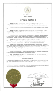 Safe Schools Week Proclamation